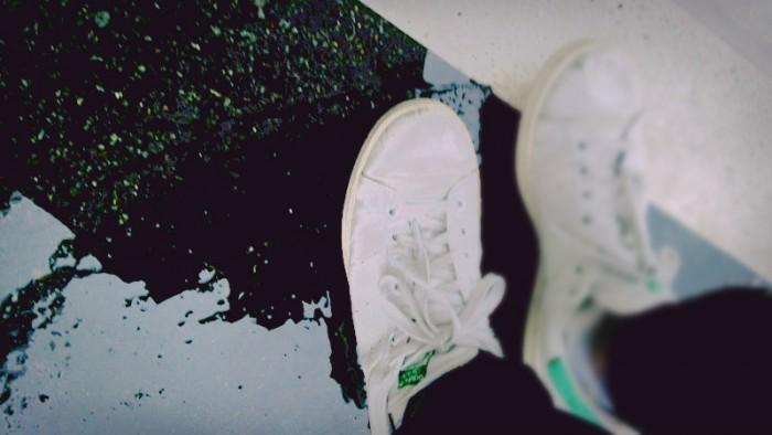 雨の日は結局スニーカー
